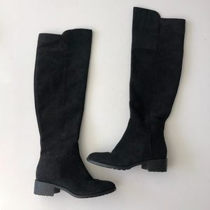 Cole Haan Over The Knee Suede Black Boots Size 8.5